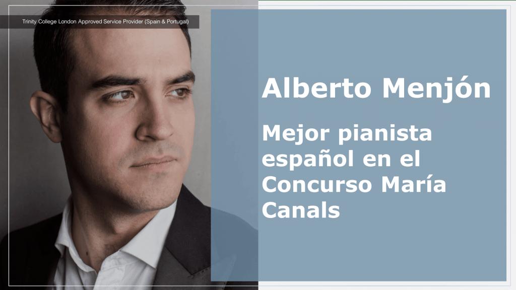 Alberto Menjón Mejor pianista español en el Concurso Maria Canals
