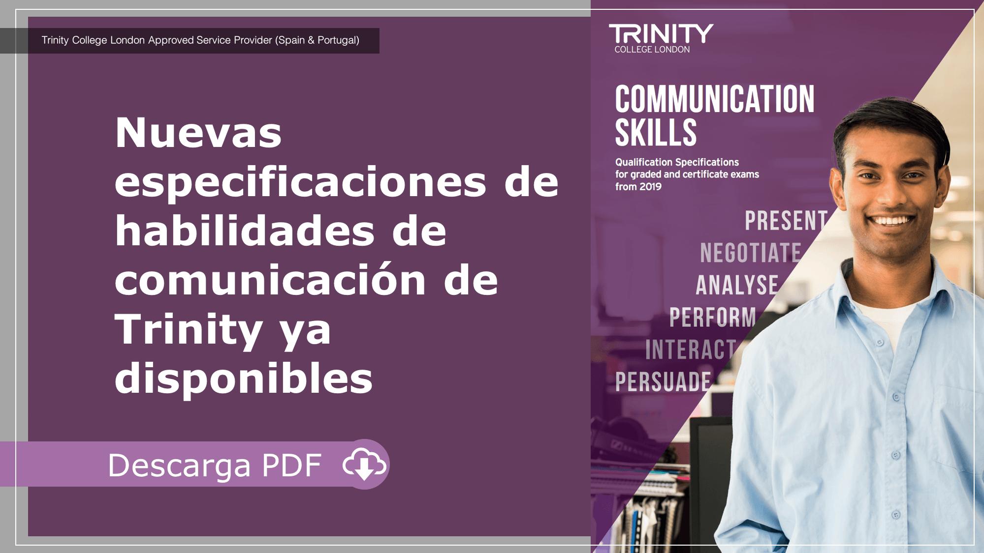 Nuevas especificaciones de habilidades de comunicación de Trinity ya disponibles