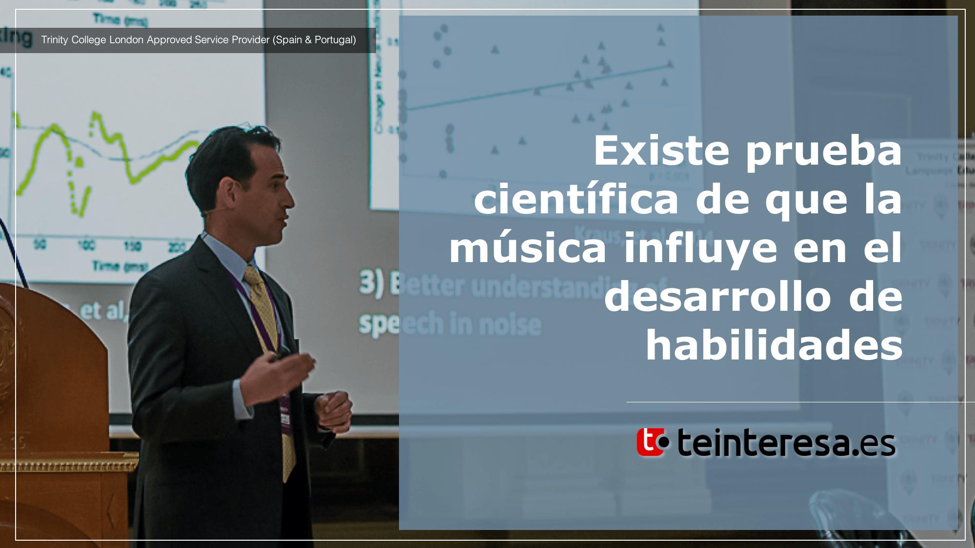 Existe prueba científica de que la música influye en el desarrollo de habilidades