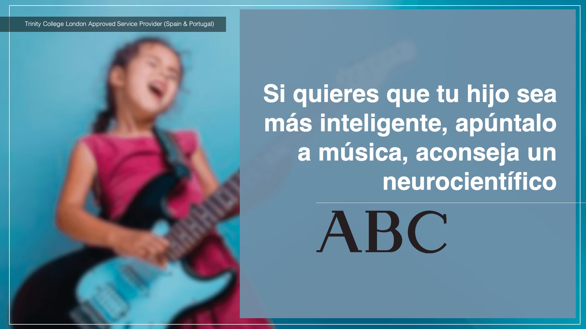 Si quieres que tu hijo sea más inteligente, apúntalo a música Diario ABC