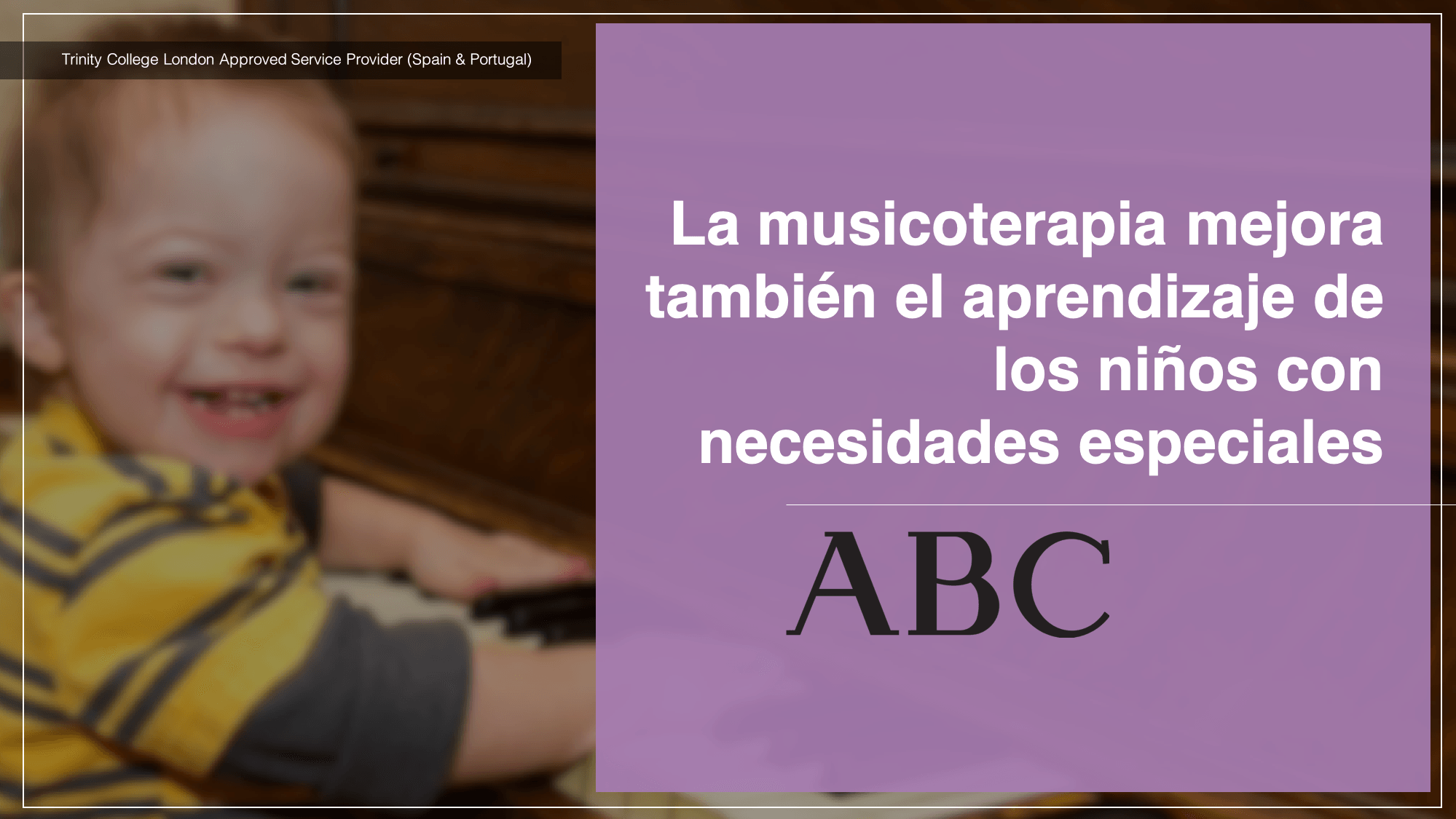 La musicoterapia mejora también el aprendizaje de los niños con necesidades especiales Diario ABC