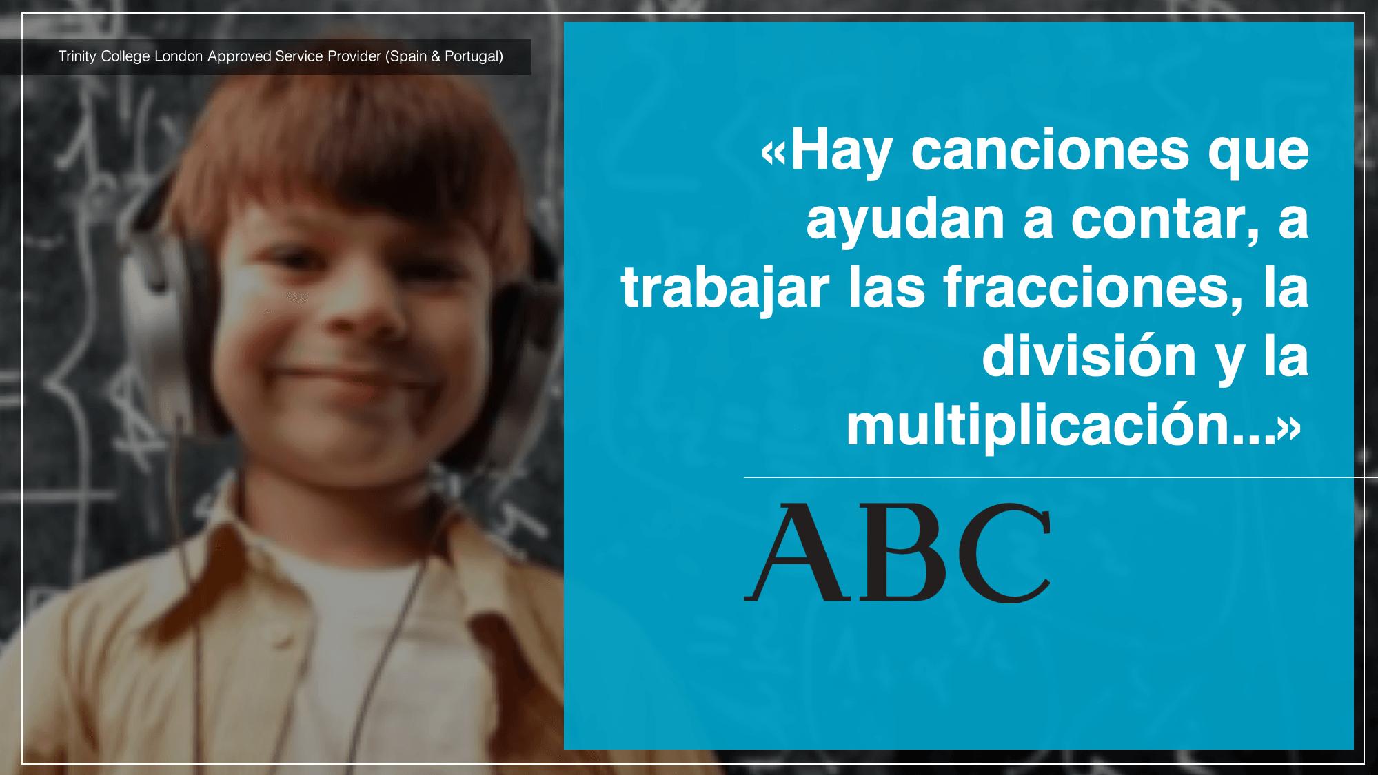 Diario ABC Hay canciones que ayudan a contar, a trabajar las fracciones, la división y la multiplicación