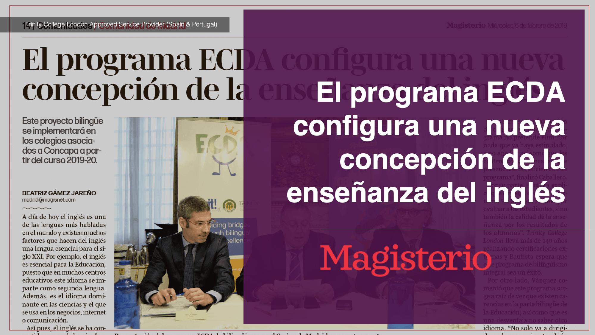 El programa ECDA configura una nueva concepción de la enseñanza del inglés