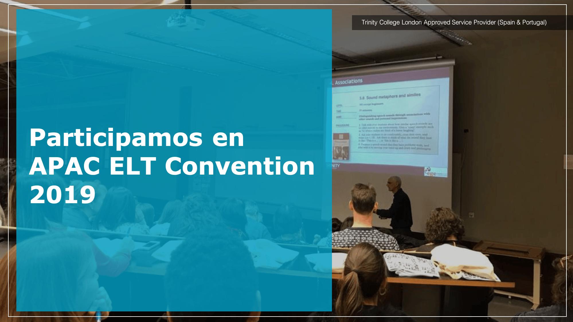 Participamos en  APAC ELT Convention 2019