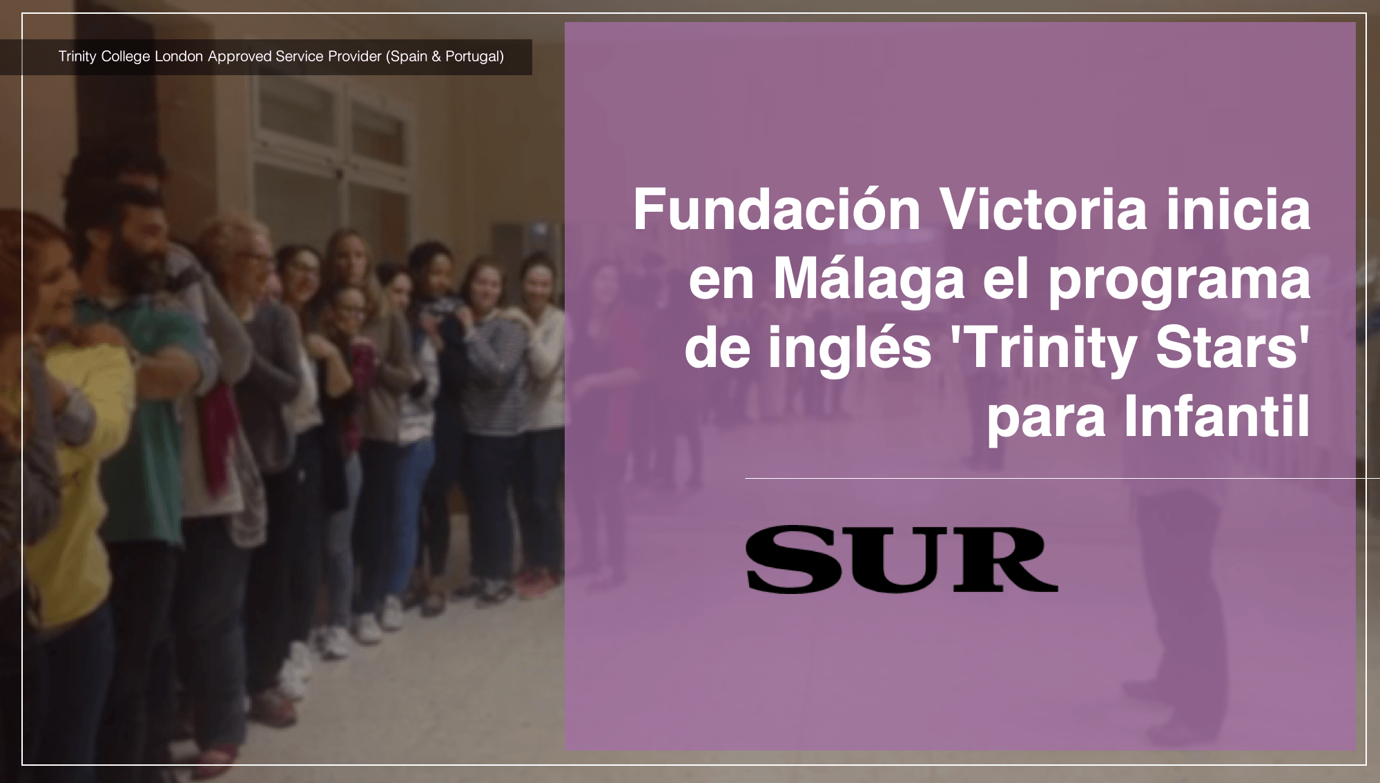 Fundación Victoria inicia en Málaga el programa de inglés Trinity Stars para Infantil