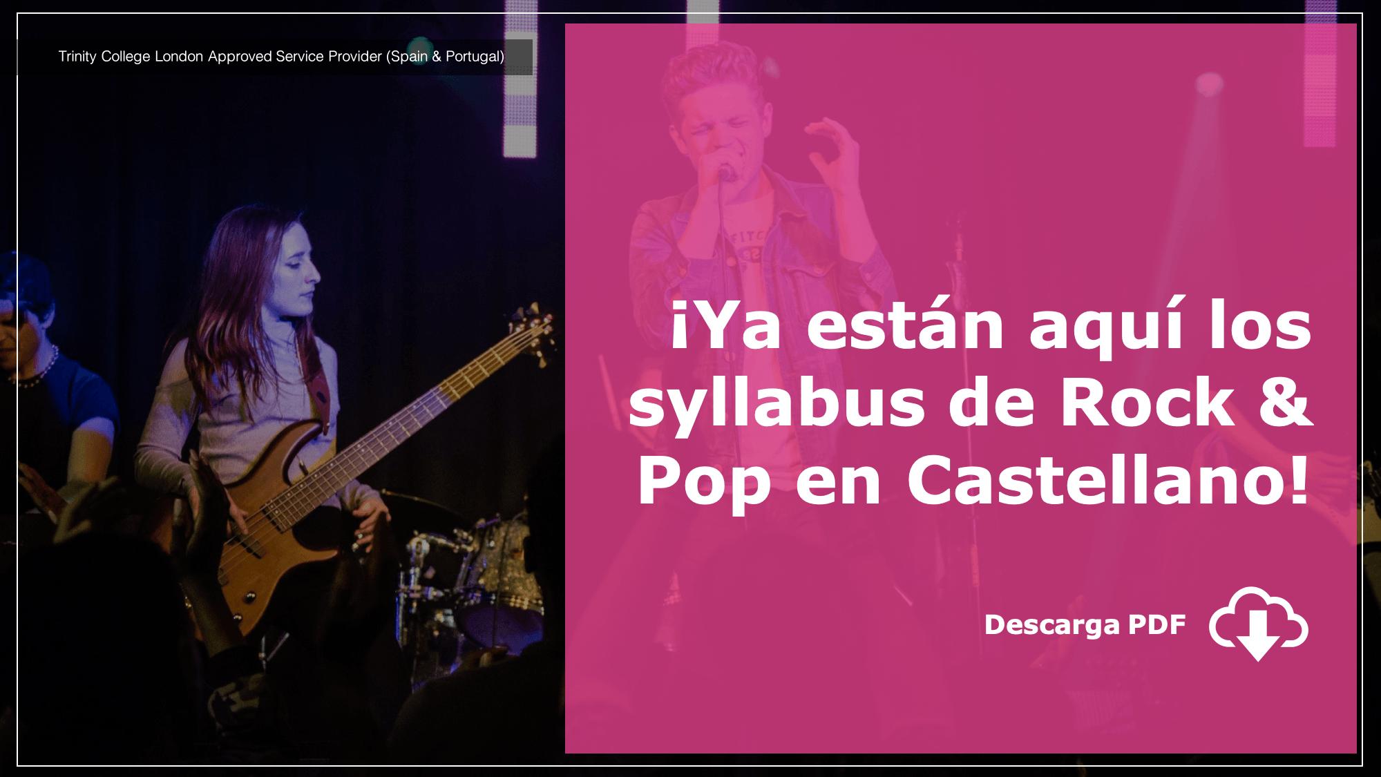 Ya están aquí los syllabus de Rock & Pop en Castellano