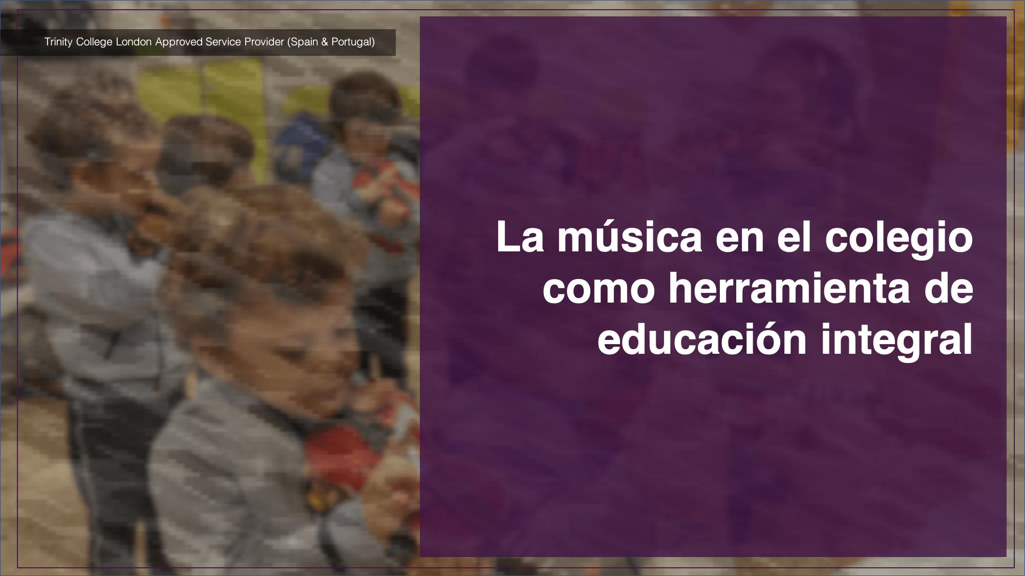 La música en el colegio como herramienta de educación integral