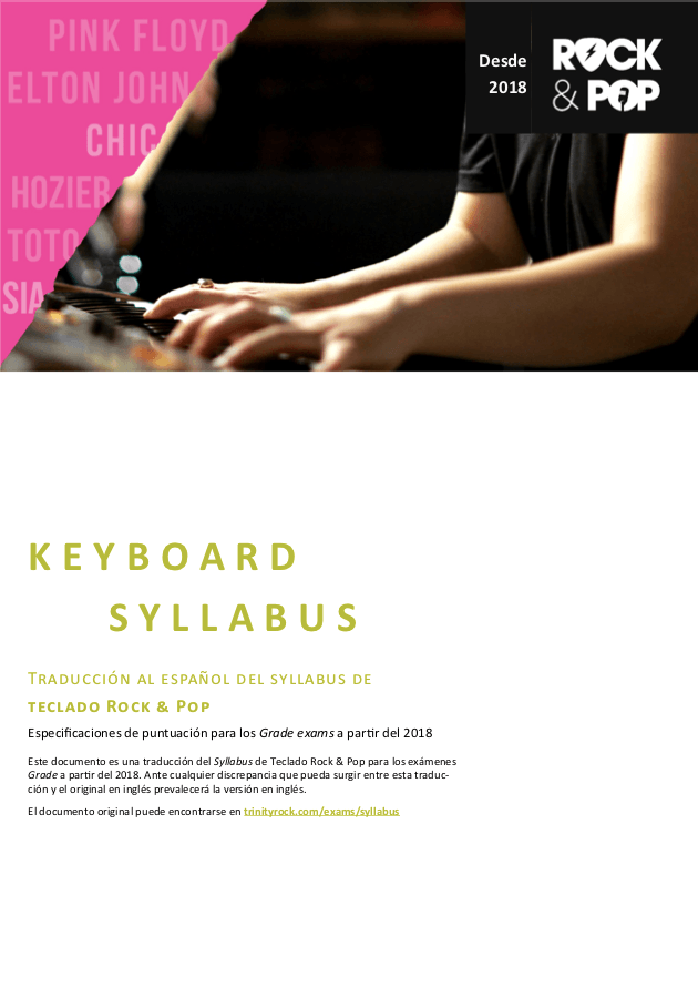 Syllabus Piano