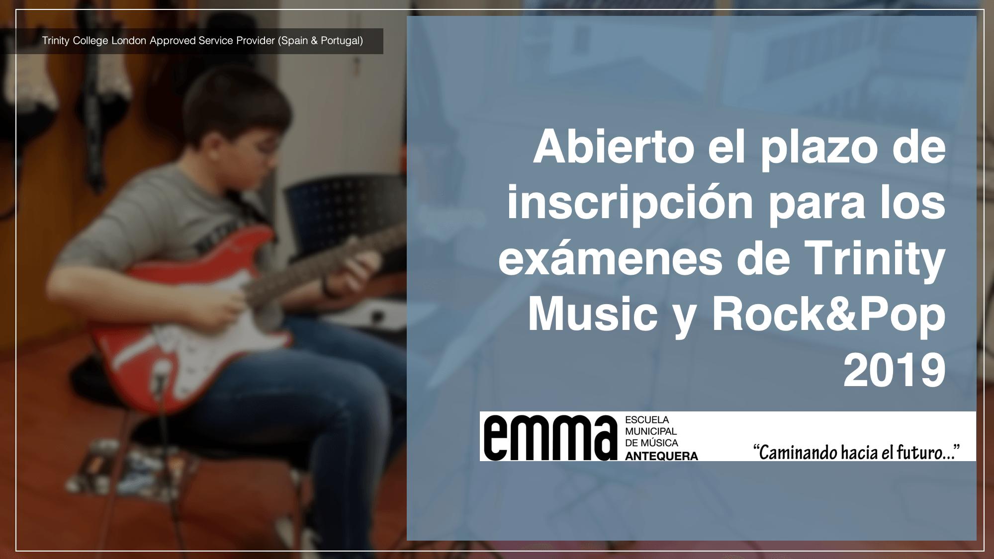 Abierto el plazo de inscripción para los exámenes de Trinity Music y Rock&Pop 2019
