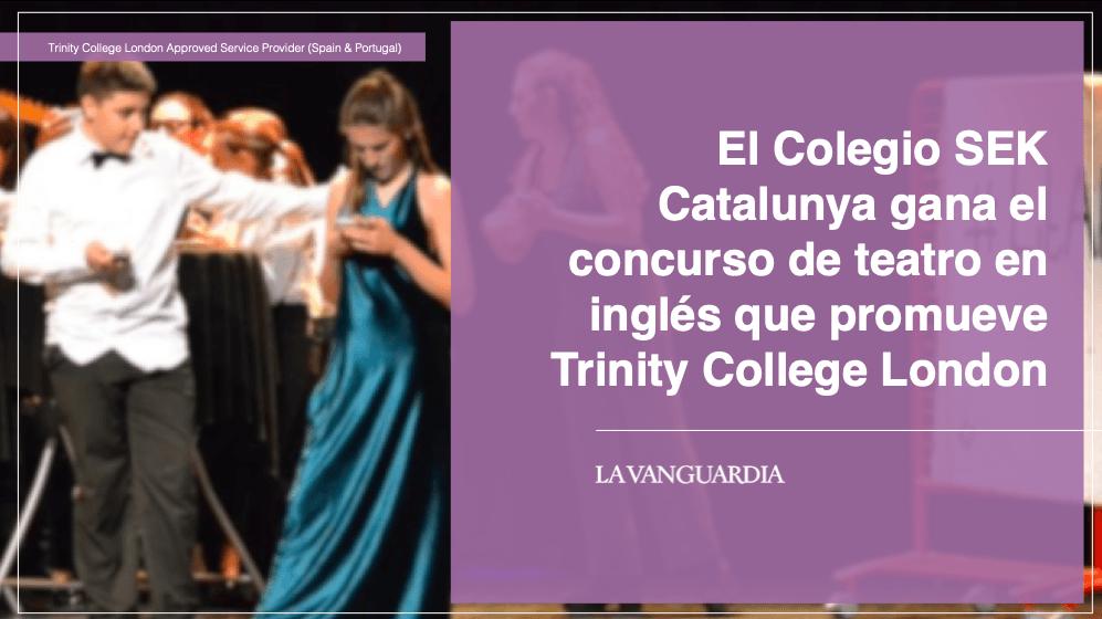 El Colegio SEK Catalunya gana el concurso de teatro en inglés que promueve Trinity College London