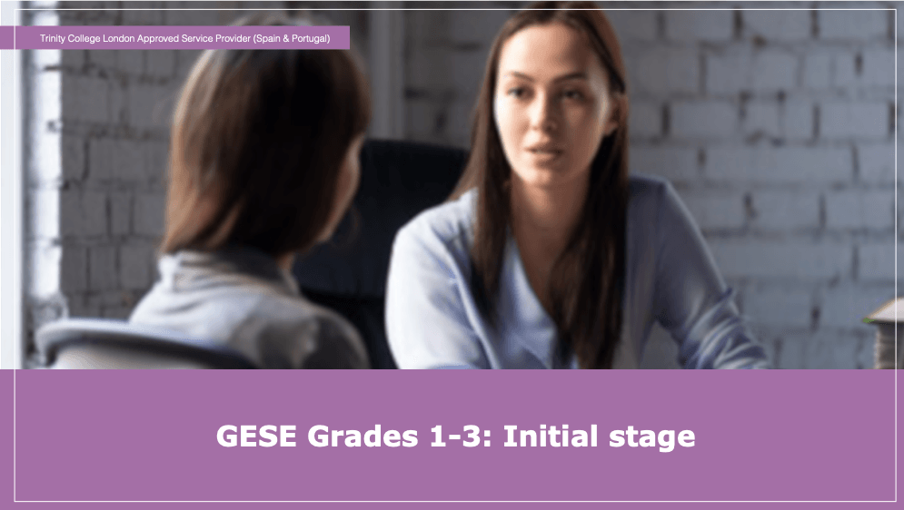 GESE Grades 1-3: Initial stage