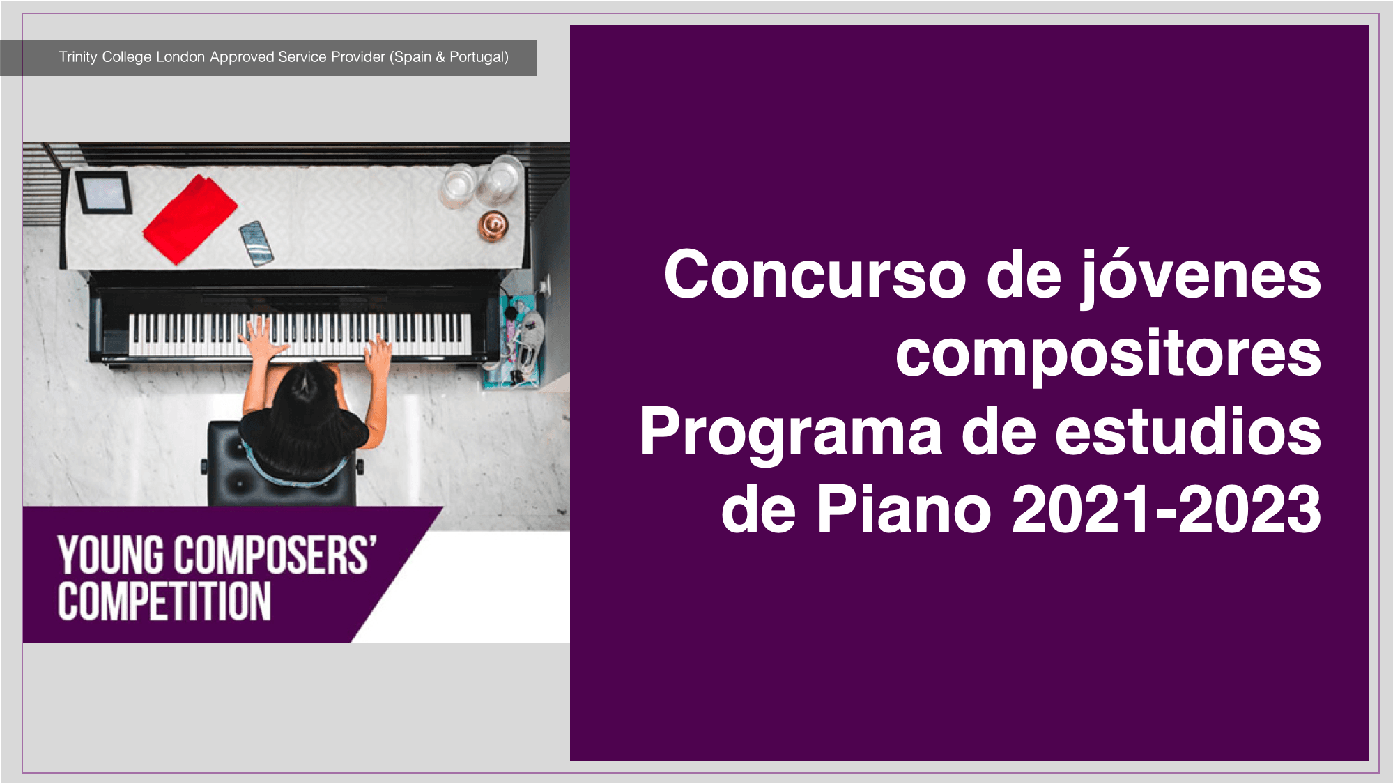 Concurso de jóvenes compositores Programa de estudios de Piano 2021-2023