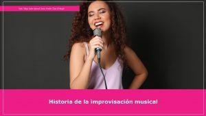 Historia de la improvisación musical