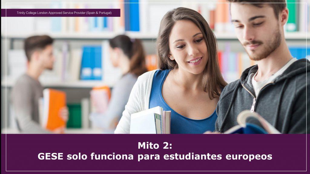 El GESE solo es para estudiantes europeos - MITO-