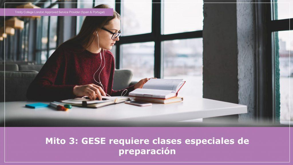 Se necesitan clases especiales para el GESE