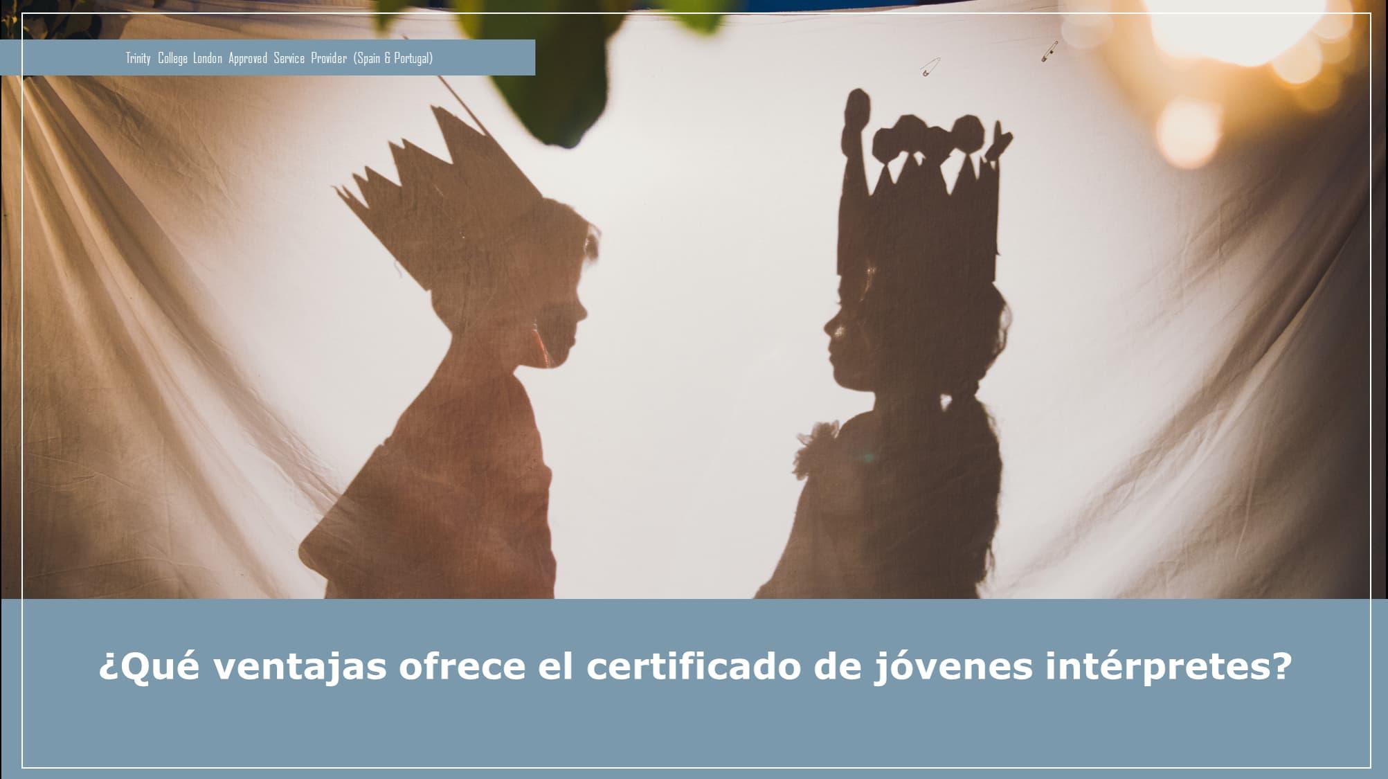 Certificado de jóvenes interpretes